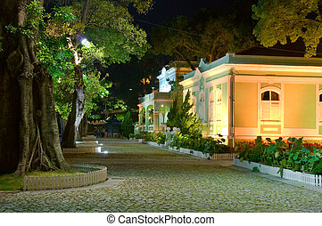 Preserved colonial house - Night scene, the colonial house...