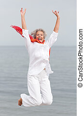 Senior woman - Active and happy senior woman