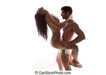Passionate Couple In Erotic Pose