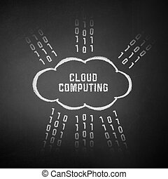 Cloud Computing Concept - Conceptual picture on cloud...