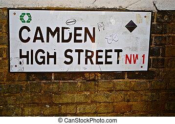 Camden High Street road sign