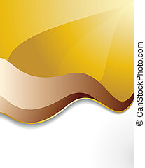 Vector sunrays and waves abstract