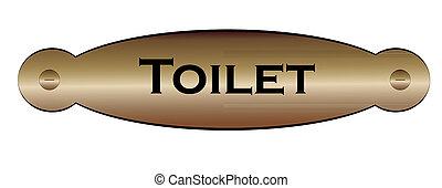 door plate toilet