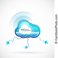 Technology cloud concept Vector icon
