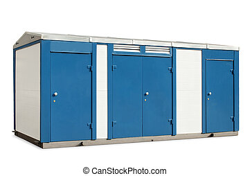 transformer substation on a white background