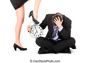 Deadline - A picture of a sexy woman showing a deadline to...