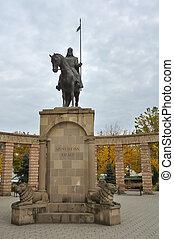 Szent Istvan Kiraly saint Stephen king statue in Mateszalka,...