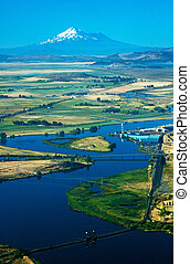 Klamath River with Mt Shasta in the distance Taken from the...