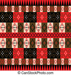Ethnic red texture