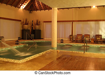 Hydrotherapy Spa - Evening view of Hydrotherapy Spa with...