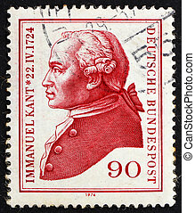 Postage stamp Germany 1974 Immanuel Kant, philosopher -...