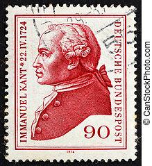 Postage stamp Germany 1974 Immanuel Kant, philosopher -...