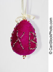 Easter egg symbol - Handmade of wallow felt egg symbol of...