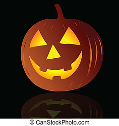pumpkin on black background