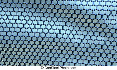 Perforated metallic texture waving, seamless loop