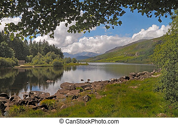 Snowdonia National Park - A lake in the Snowdonia National...