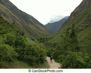 Inca trail in the mountains