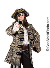 Portrait of man in a pirate costume