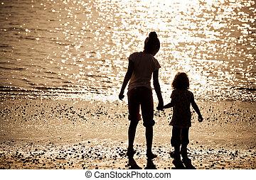 Two children on beach