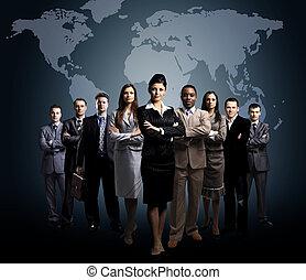 negócio, pessoas, equipe