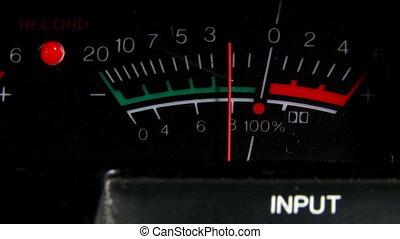 VU meter, input