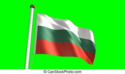 Bulgaria flag (Loop & green screen) - 3D Bulgaria flag video...