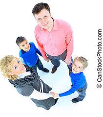 blanco, aislado, Plano de fondo, familia