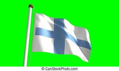 Finland flag (Loop & green screen)