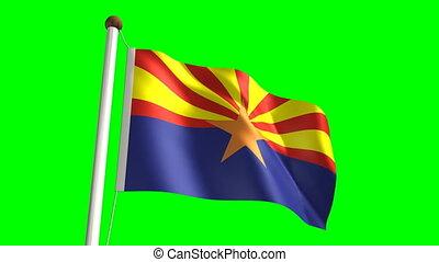 Arizona flag (Loop & green screen)