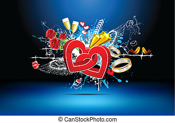 Abstract Love Background - illustration of abstract love...
