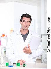 Male scientist in laboratory