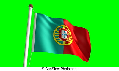 Portugal flag (Loop & green screen)