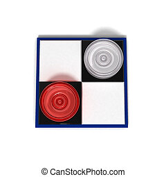 Mini checkers - Board games symbol. chessboard 2x2 with two...