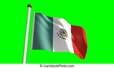 Mexico flag (Loop & green screen)