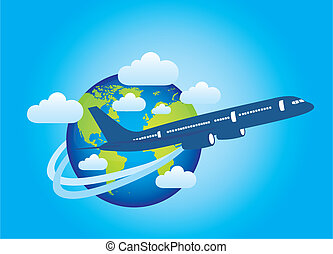 earth and plane