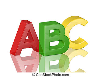 alphabet abc - Colorful transparent alphabet abc with...