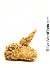 isolated deep fried chicken wing