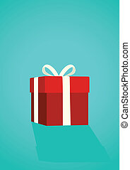 Gift Box - Vector illustration of a gift box. Great spacing...