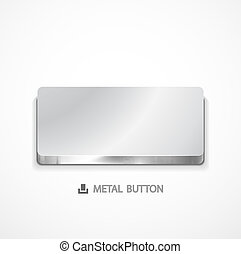 Metal buttons - Vector illustration for your design