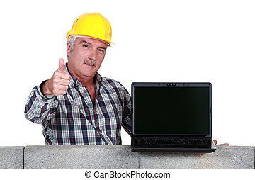 Approving tradesman embracing technology