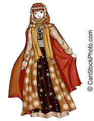 Arab Traditional Costume - Arab Princess in traditional...
