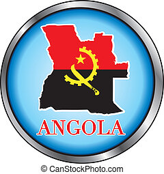 Angola Round Button - Vector Illustration for Angola, Round...