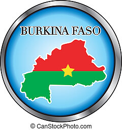 Burkina Faso Round Button