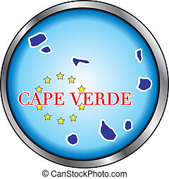 Cape Verde Round Button - Vector Illustration for Cape...