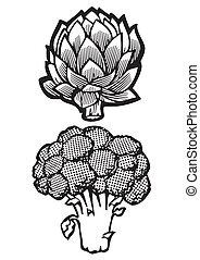 Artichoke and Broccoli
