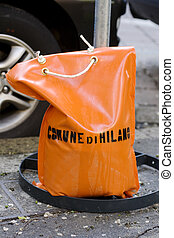 Bag with ballast - Orange bag with ballast, City of Milan