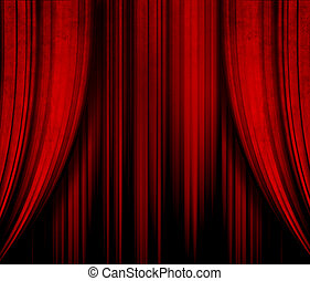 dark red theater curtain
