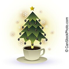 christmas tree coffee cup graphic