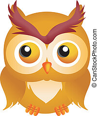 Halloween Owl - Scalable vectorial image representing a...