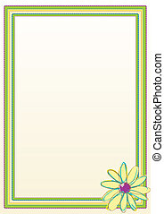 Flower Border Frame - Scalable vectorial image representing...